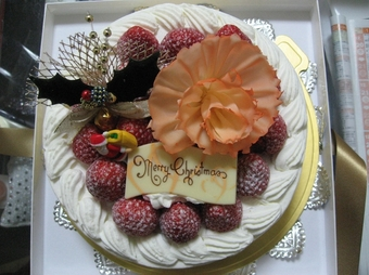 写真:成城アルプスのクリスマスケーキ