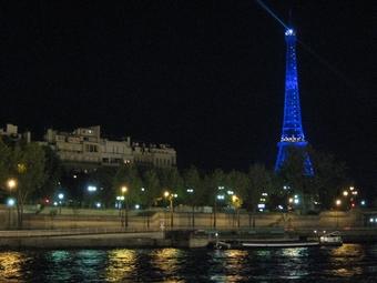セーヌ川の夜景(クリックで拡大)